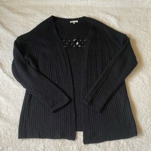 Plus Size Knit Sweater Black 1XL/2XL